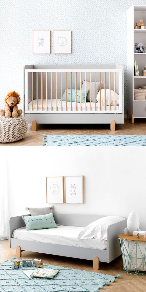 Precisando decorar o quarto do bebê - Berço que vira cama - 2 em 1