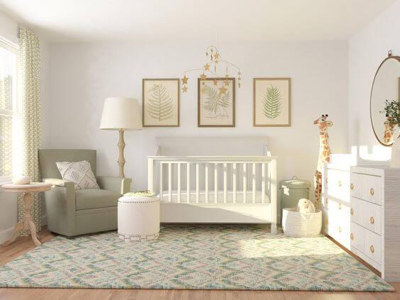 Precisando decorar o quarto do bebê - Papel de parede claro