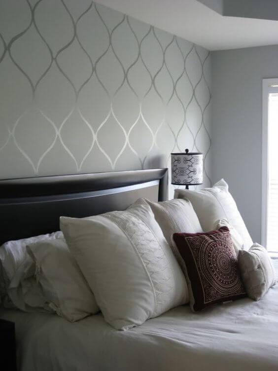 Papeis de parede no quarto - como decorar o apartamento alugado.